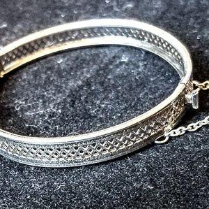 Vintage 1950's silver tone childs bracelet